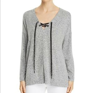 Rails Leigh Lace Up Sweater